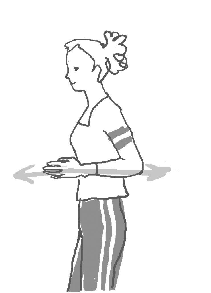 女性が方向性を思い描いているイラスト