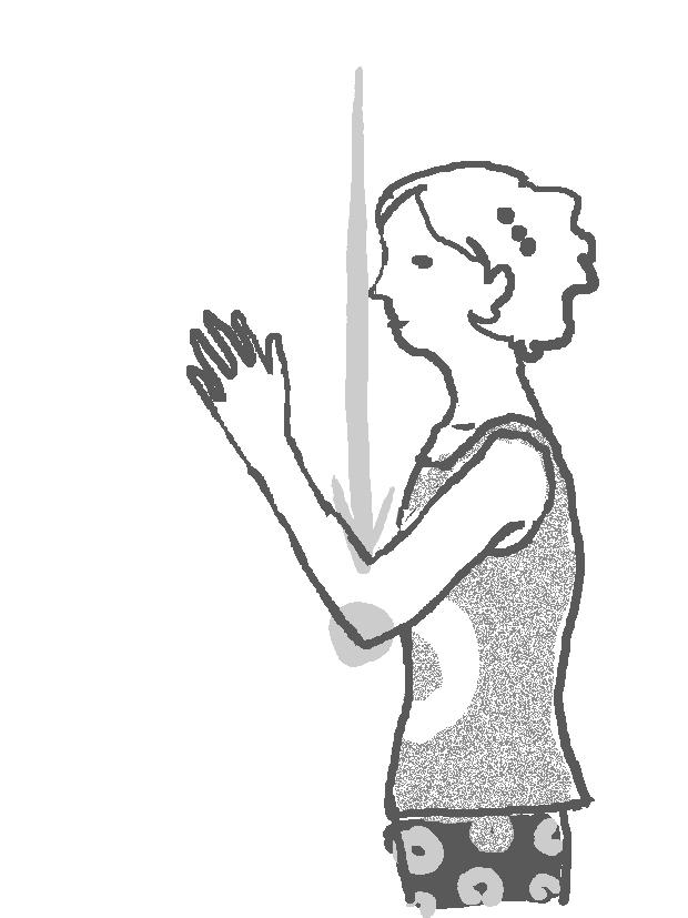 肘の動きのイラスト