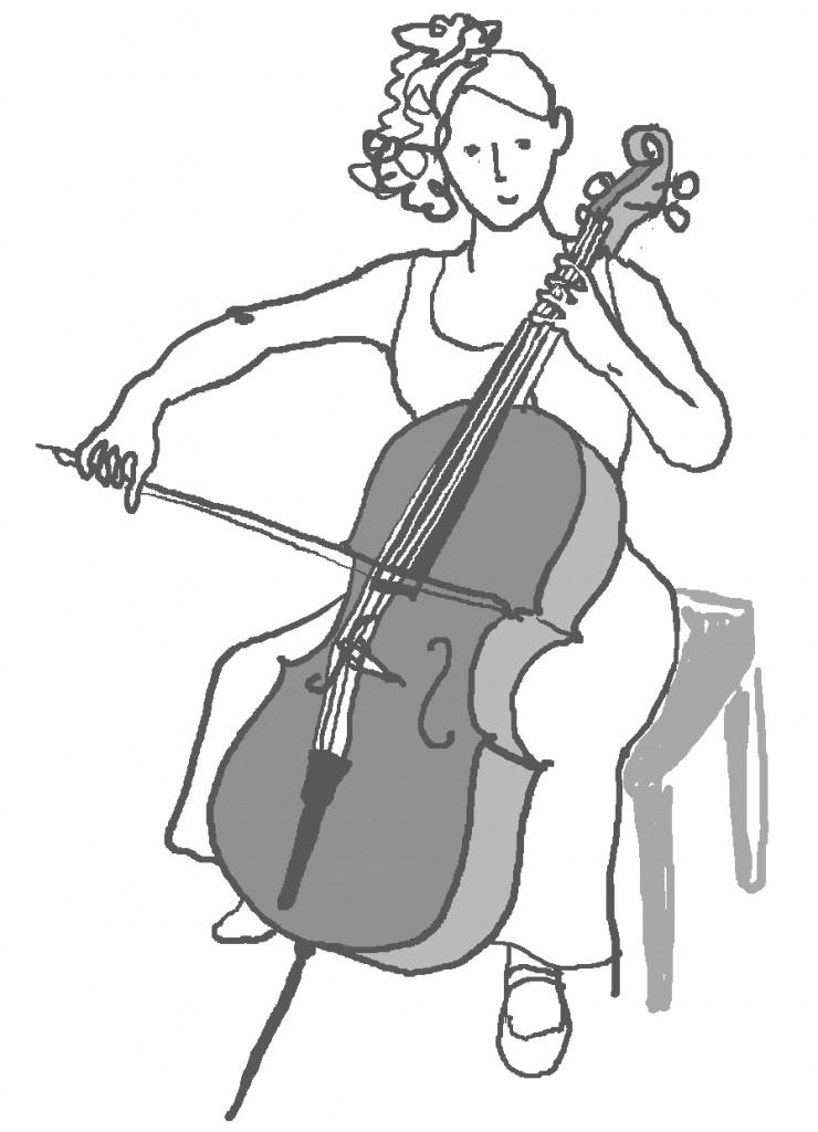 弦楽器奏者のイラスト