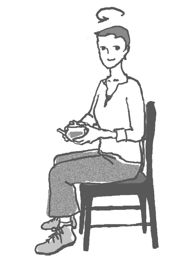 椅子に座った時の動作のワーク